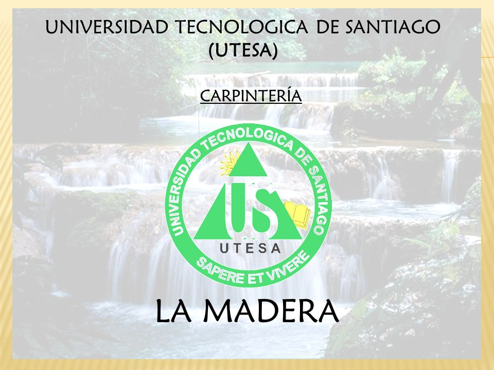 CARPINTERÍA UNIVERSIDAD TECNOLOGICA DE SANTIAGO (UTESA) LA MADERA