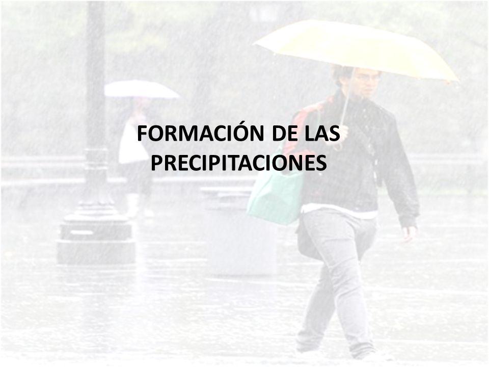 Las precipitaciones se producen gracias al vapor de agua originado por la evaporación del agua de océanos, ríos, mares, plantas y diversos seres vivos.
