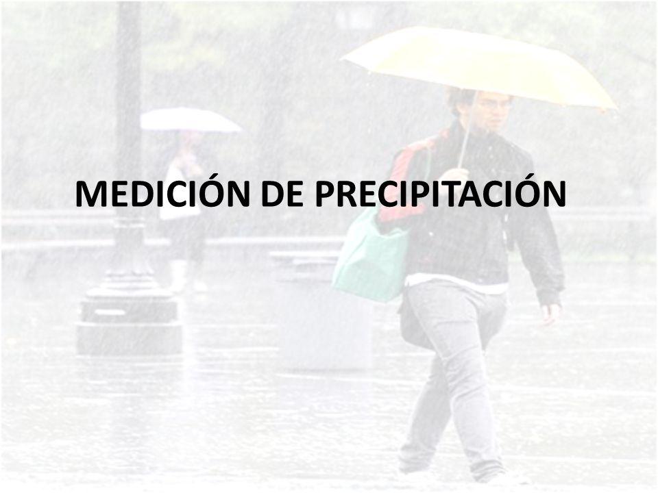 La precipitación se mide con un aparato llamado pluviómetro.