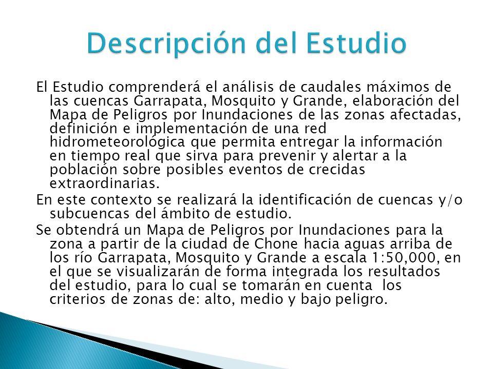 La ciudad de Chone se encuentra ubicada en la parte occidental del Ecuador en la provincia de Manabí (costa ecuatoriana), en las coordenadas: 601512 E, 9923462 N zona 17 Sur (WGS84), donde se ha considerado como puntos de cierre de las cuencas de estudio.