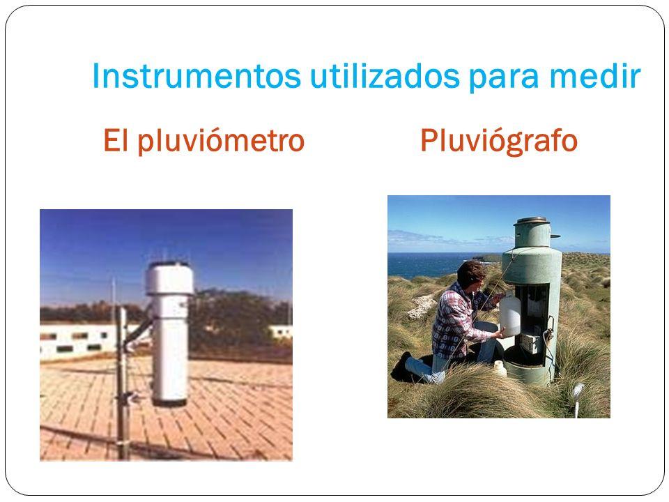 Instrumentos utilizados para medir El pluviómetroPluviógrafo