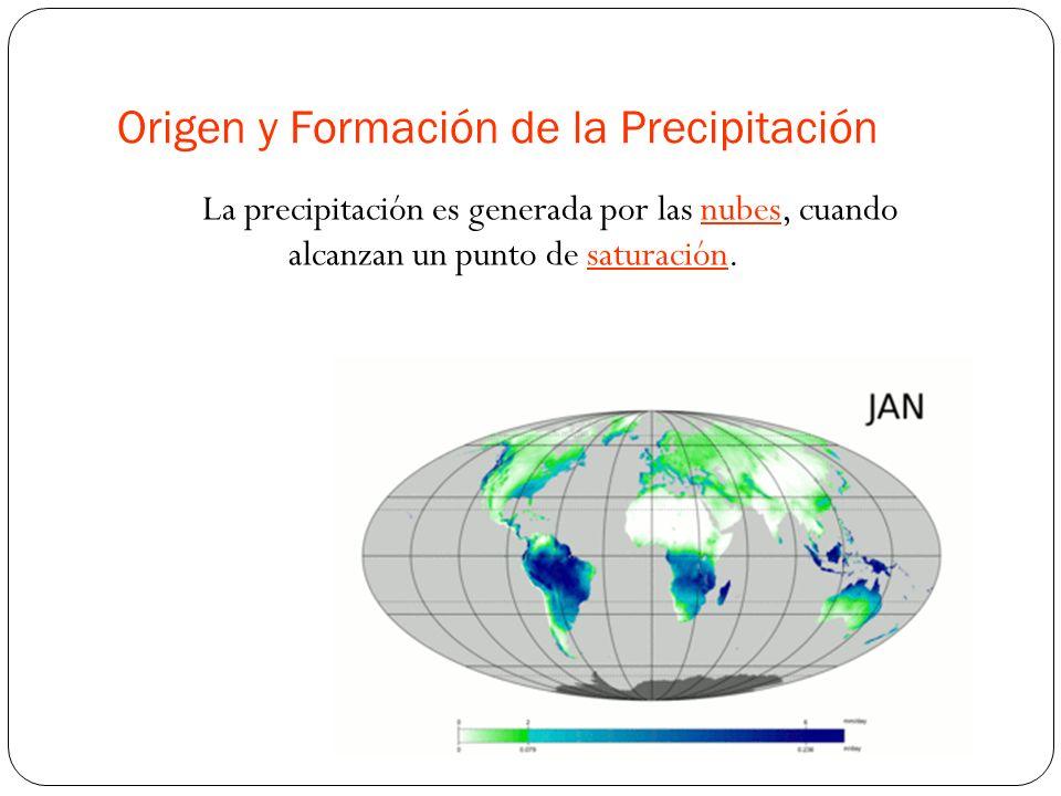 Origen y Formación de la Precipitación La precipitación es generada por las nubes, cuando alcanzan un punto de saturación.nubessaturación