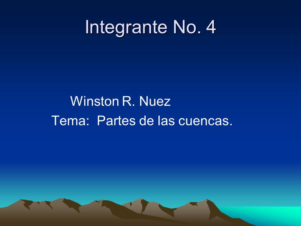 Integrante No. 4 Winston R. Nuez Tema: Partes de las cuencas.