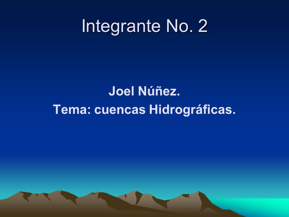 Joel Núñez. Tema: cuencas Hidrográficas. Integrante No. 2