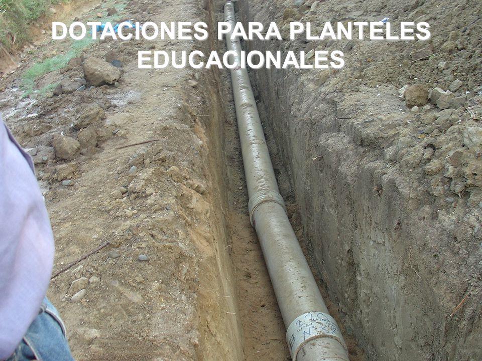 DOTACIONES PARA PLANTELES EDUCACIONALES