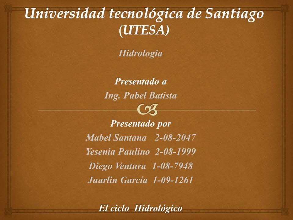 Hidrologia Presentado a Ing.