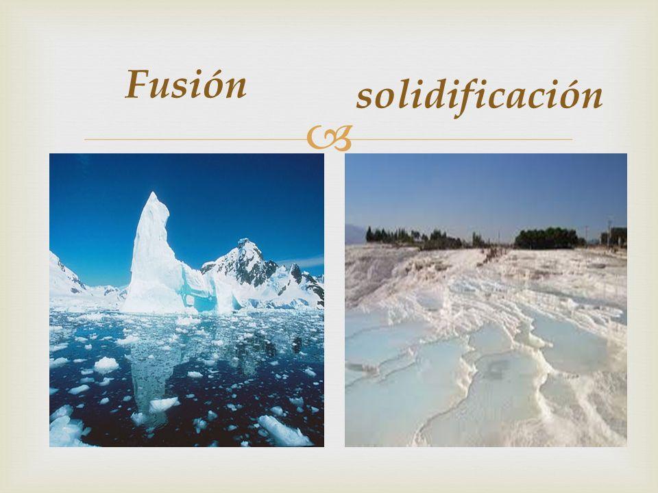Fusión solidificación