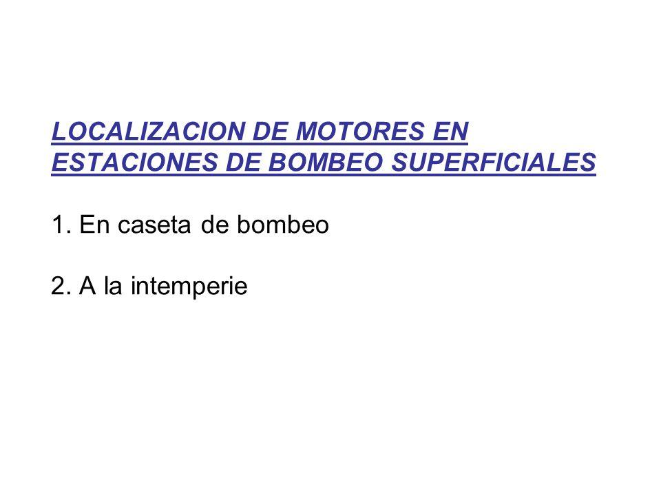 LOCALIZACION DE MOTORES EN ESTACIONES DE BOMBEO SUPERFICIALES 1.