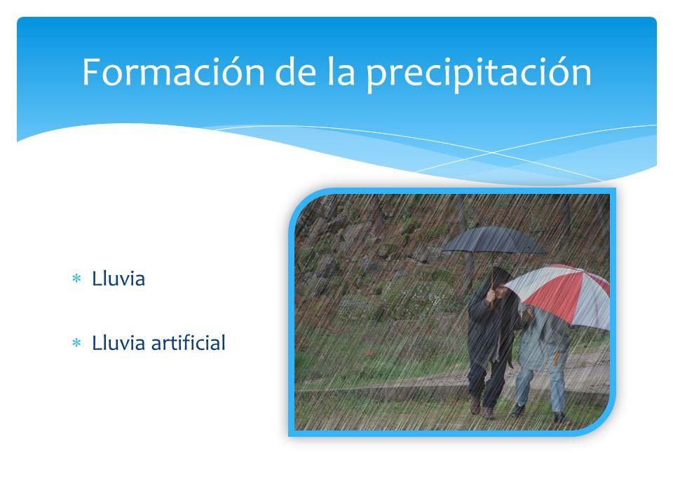 Tipos de precipitación El ciclo del agua en la atmosfera consta de tres partes diferentes, que son: La evaporación, la condensación y la precipitación.