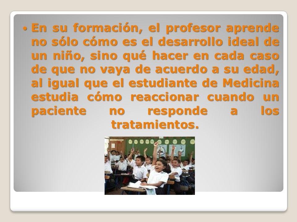 Un profesor es como un médico en la sala de urgencias después de una catástrofe.