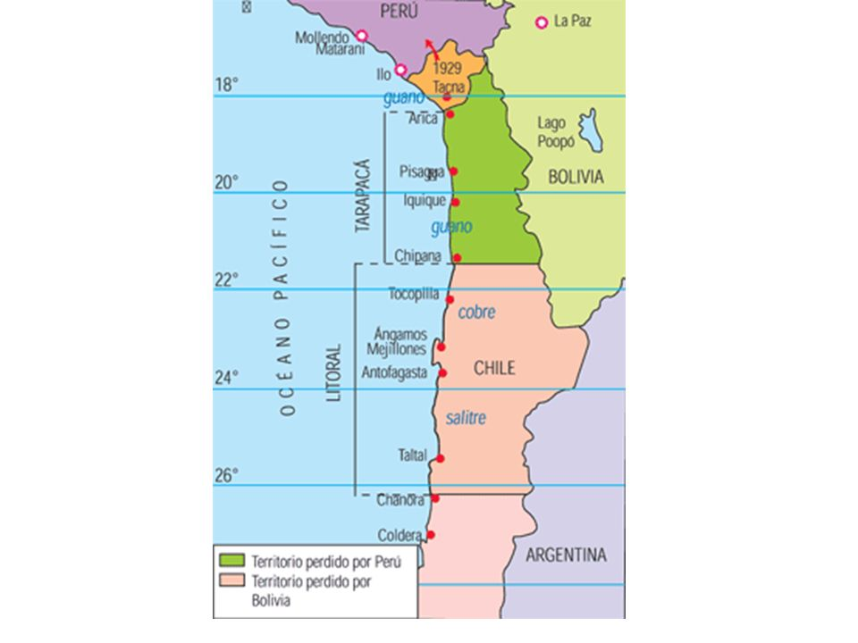 Tratado de Lima 1929: Durante el primer gobierno de Carlos Ibáñez del Campo, se fija como límite la línea de la Concordia.