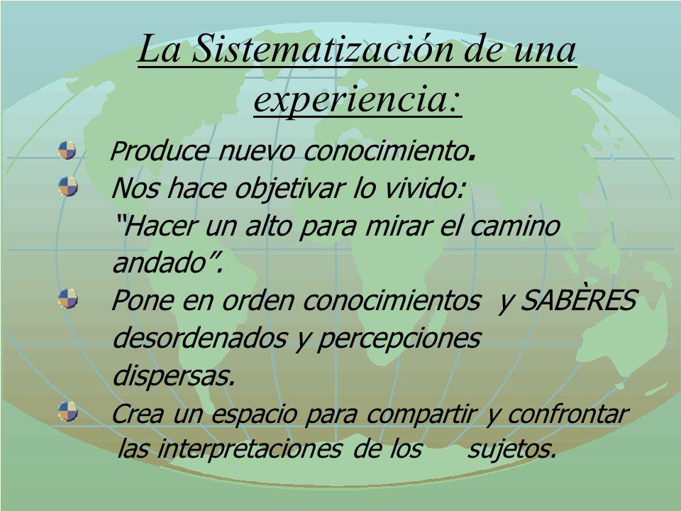 Condiciones para Sistematizar PERSONALES: Interés en aprender de la experiencia.