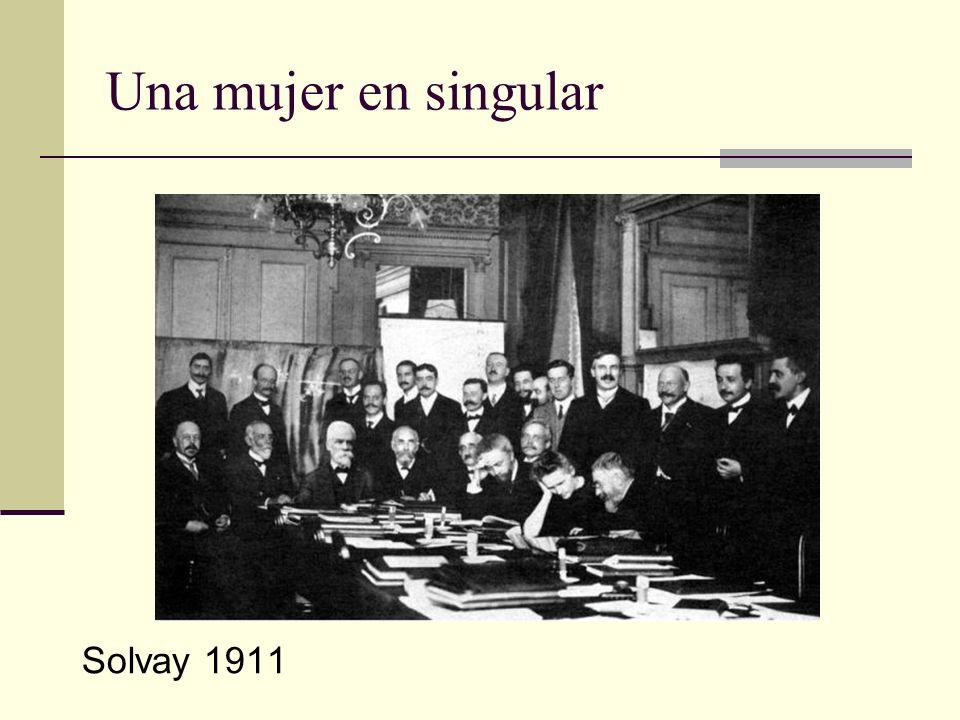 Una mujer en singular Solvay 1911