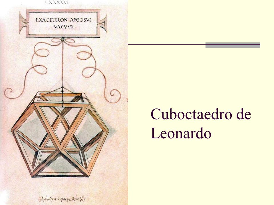 Cuboctaedro de Leonardo