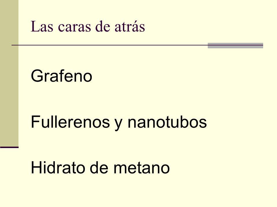 Las caras de atrás Grafeno Fullerenos y nanotubos Hidrato de metano