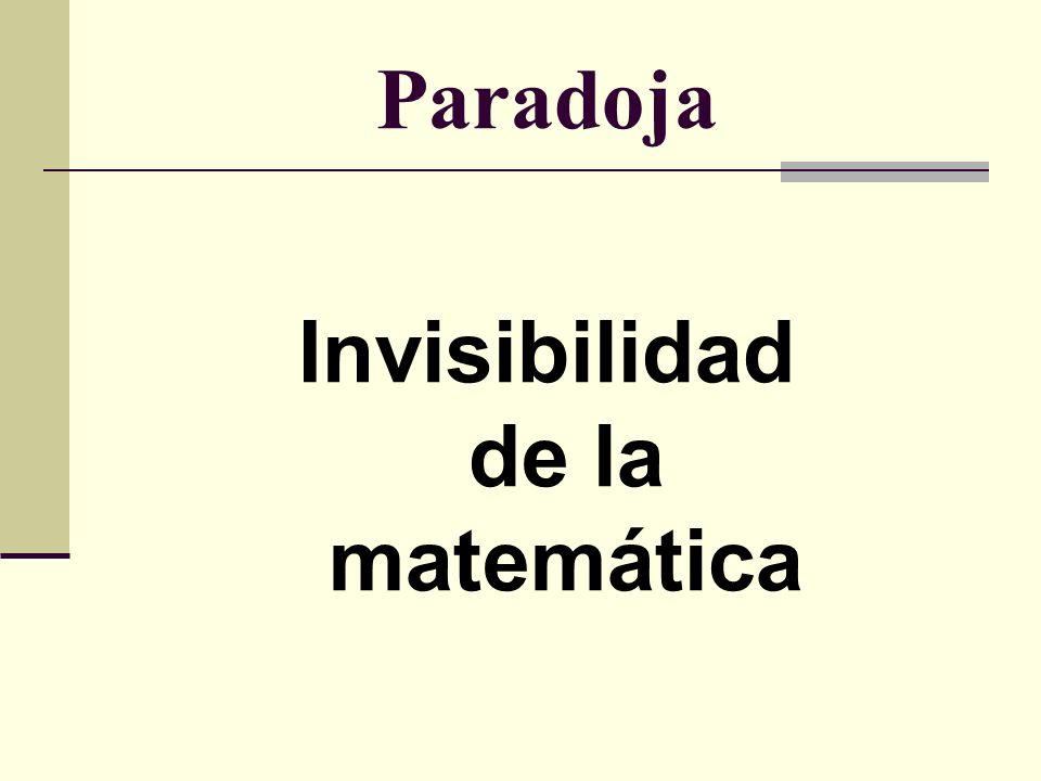 Paradoja Invisibilidad de la matemática