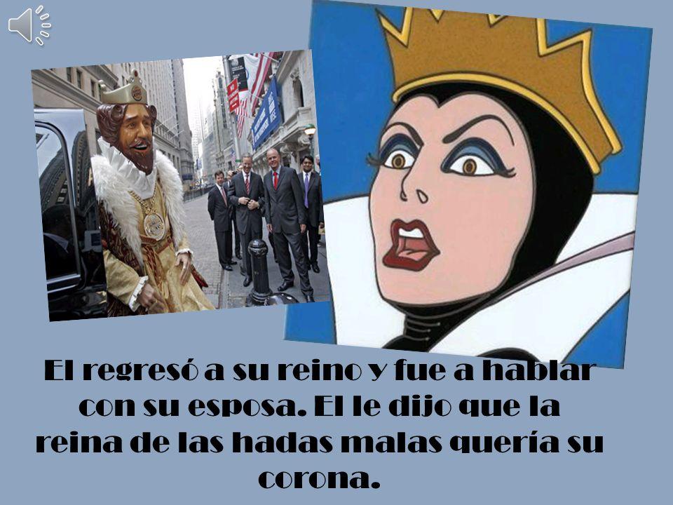El rey le llevó el anillo a la reina pero ella no lo aceptó. Ella quería la corona de la reina.