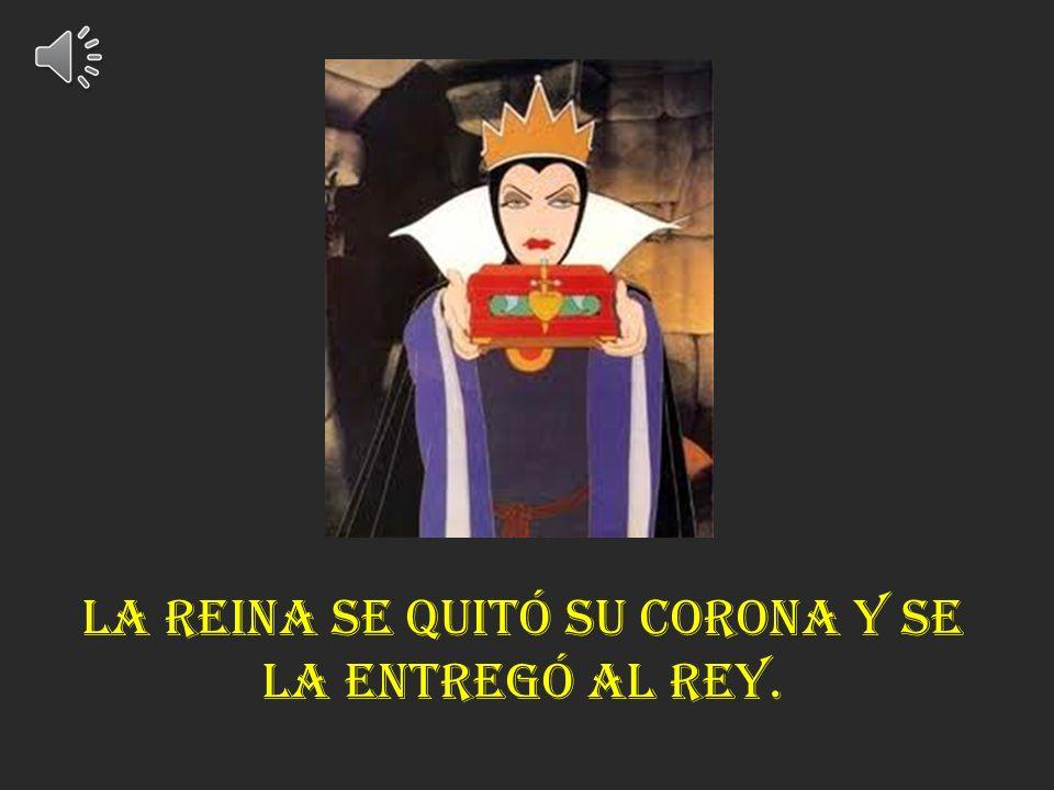 El regresó a su reino y fue a hablar con su esposa. El le dijo que la reina de las hadas malas quería su corona.