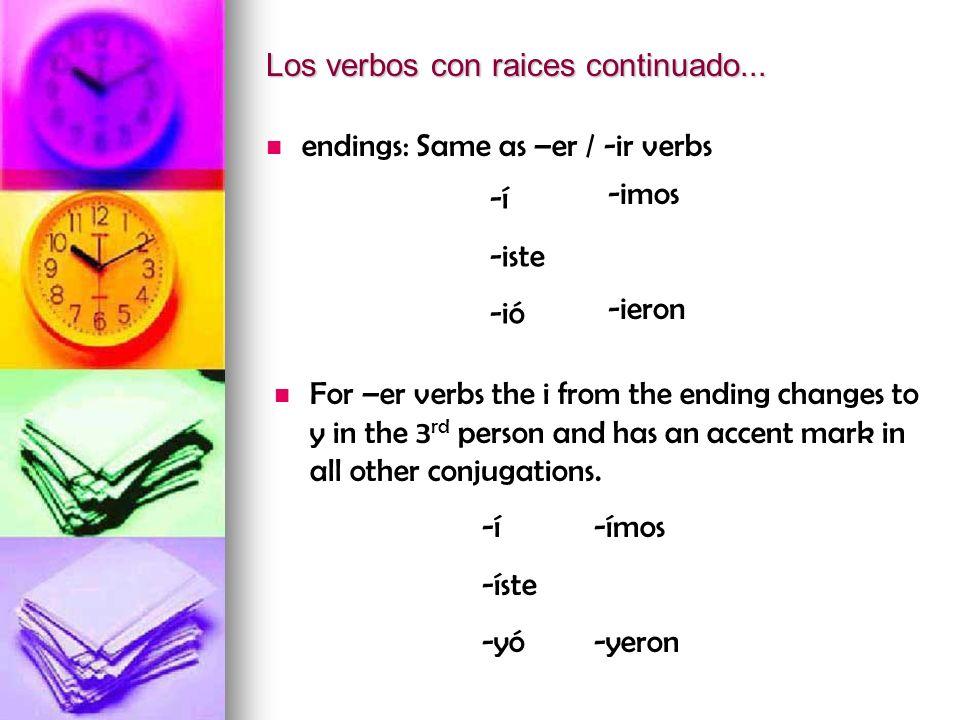 e i repetir él/ella/ ellos(as) Ud._________ Uds.