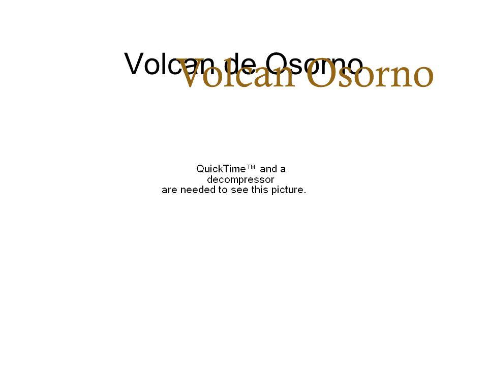 Volcan de Osorno Volcan Osorno