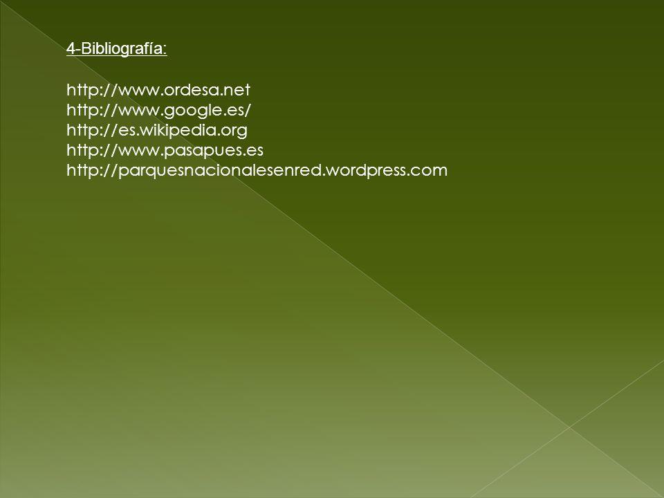 http://www.ordesa.net http://www.google.es/ http://es.wikipedia.org http://www.pasapues.es http://parquesnacionalesenred.wordpress.com 4-Bibliografía: