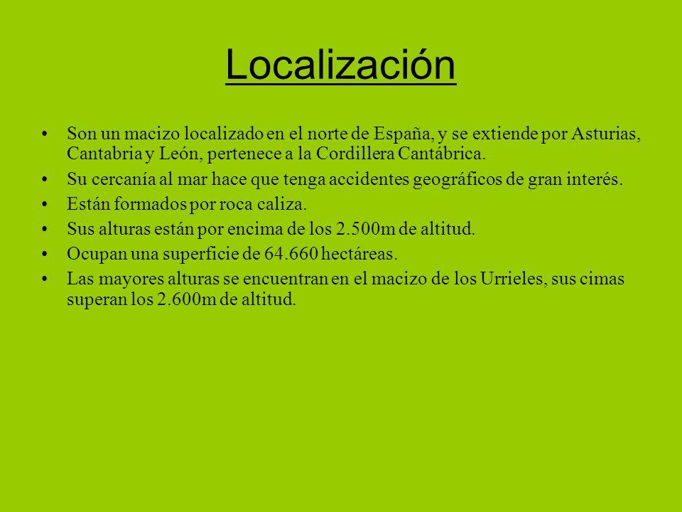 Son un macizo localizado en el norte de España, y se extiende por Asturias, Cantabria y León, pertenece a la Cordillera Cantábrica.