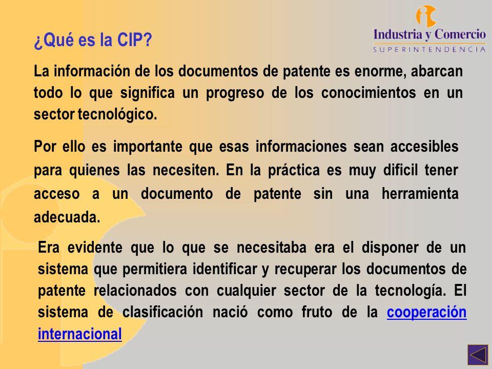 Consultas a la CIP en bases de datos Base OMPINiveles básicos de CIP en pantalla