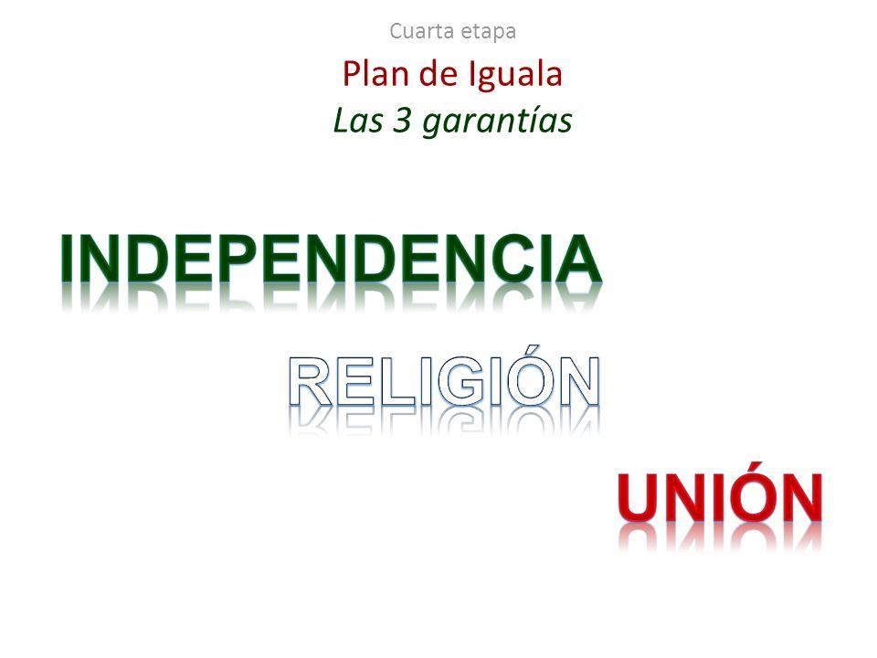 Cuarta etapa Plan de Iguala Las 3 garantías