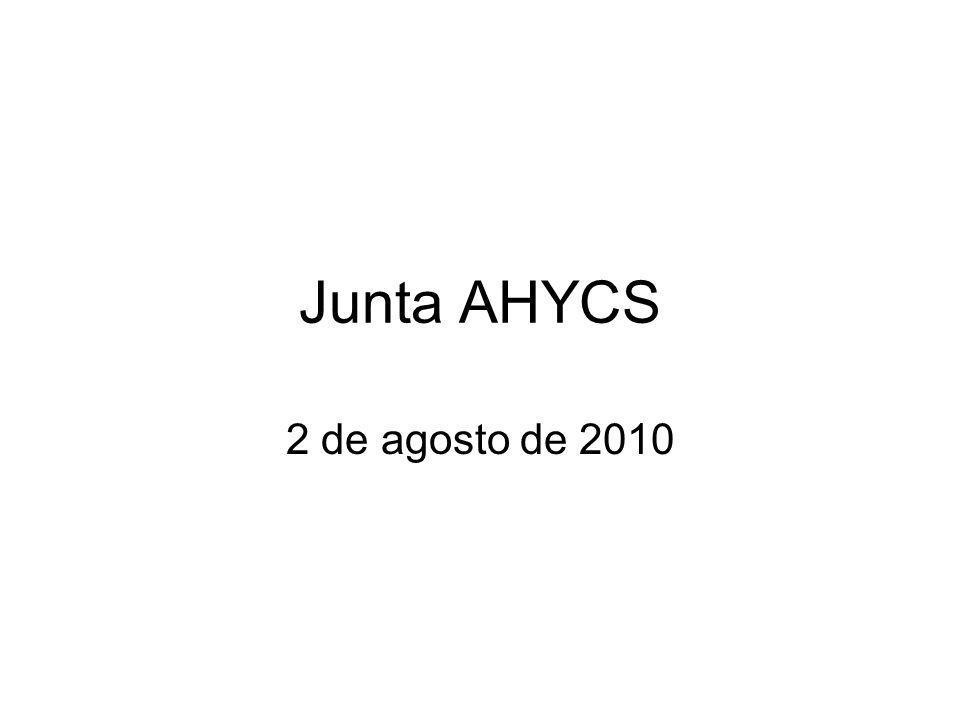 Junta AHYCS 2 de agosto de 2010