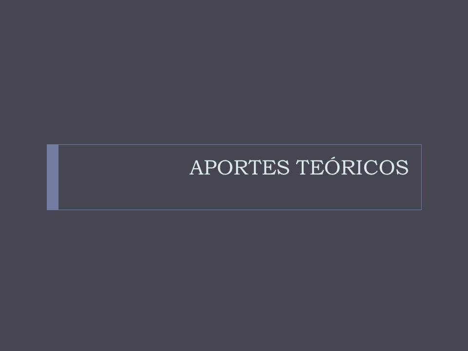 APORTES TEÓRICOS