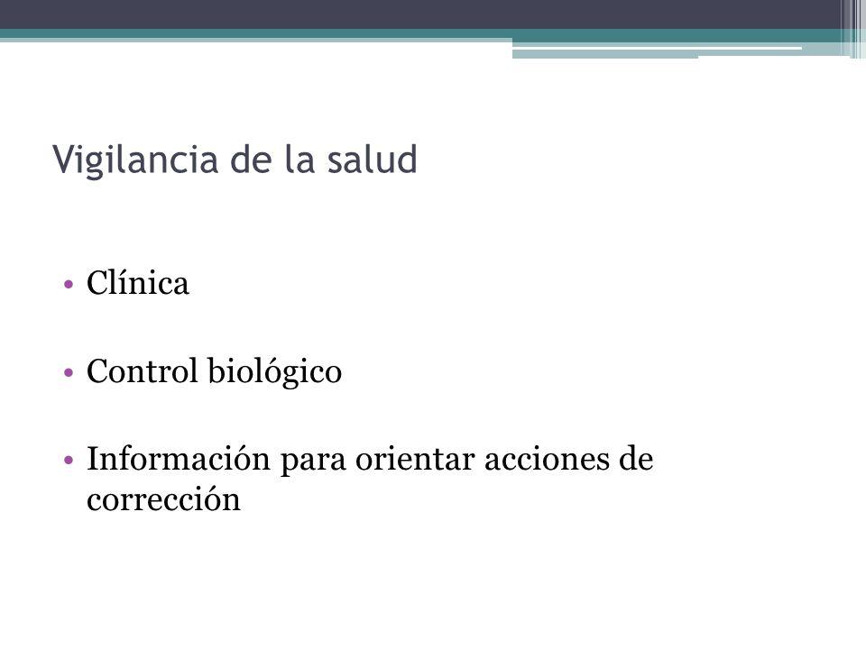 Clínica Control biológico Información para orientar acciones de corrección