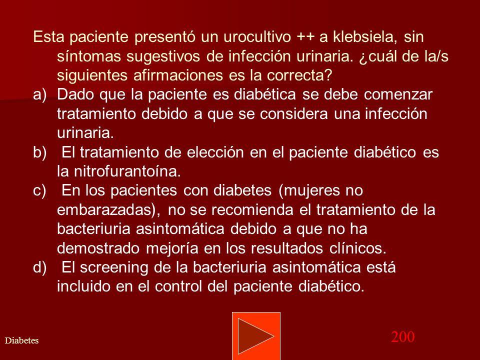 Volver Memograma Atención del niño 100 RESPUESTA CORRECTA: C. Aparición de patología crónica que cause descompensación de la diabetes en forma directa