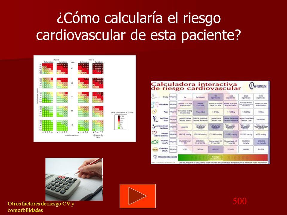 Volver Memograma Otros factores de riesgo CV y comorbilidades Tratamiento farmacológico específico: En contexto de cambio conductual. NUNCA aislado. D