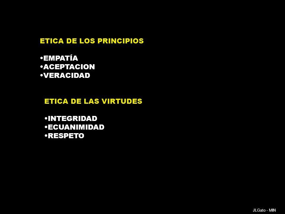 INTEGRACIÓN DE LA MBE Y LA MBN DIAGNÓSTICO Y TRATAMIENTO DEBEN SER JUICIOS REFLEXIVOS CON EXAMEN CLÍNICO MINUCIOSO LECTURA INTELIGENTE DE LOS EXÁMENES COMPLEMENTARIOS: leer adentro INCORPORACIÓN CRÍTICA DE LA MBE INTEGRACIÓN CON EXPERIENCIAS PROPIAS Y AJENAS ENRIQUECER LA RELACIÓN MÉDICO PACIENTE CON LA NARRATIVA JLGato - MIN