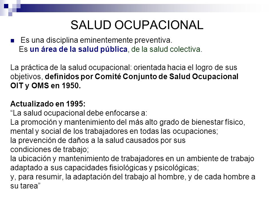 Casuística Dpto.de Salud Ocuapacional. Facultad de Medicina.