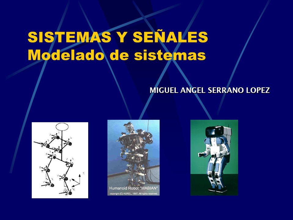 SISTEMAS Y SEÑALES Modelado de sistemas MIGUEL ANGEL SERRANO LOPEZ MIGUEL ANGEL SERRANO LOPEZ