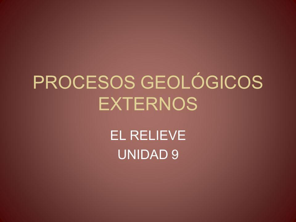 PROCESOS GEOLÓGICOS EXTERNOS EL RELIEVE UNIDAD 9
