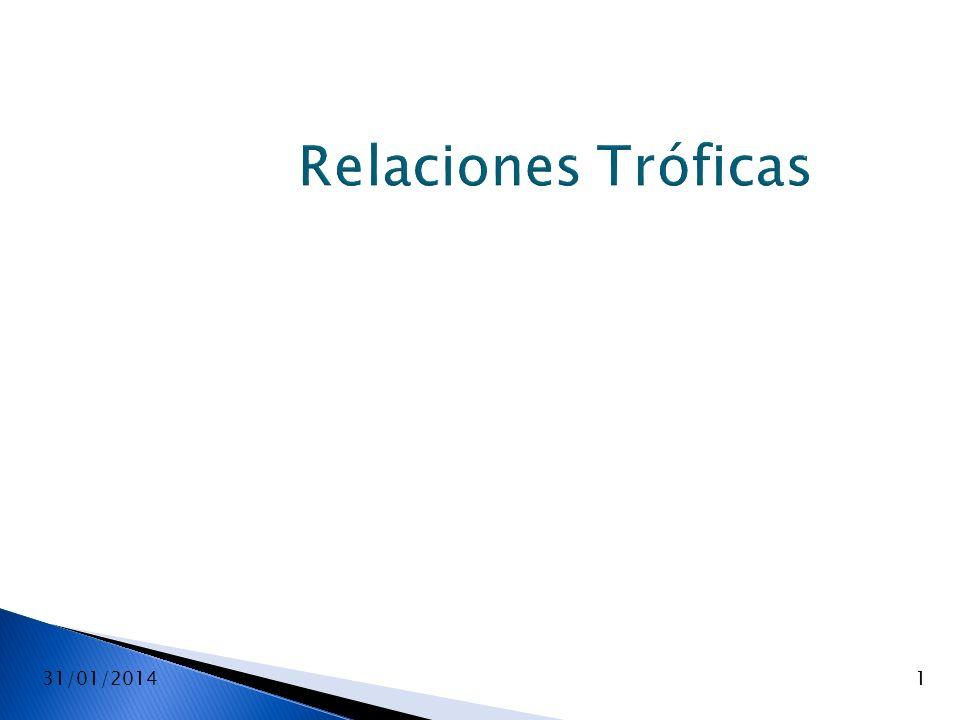 31/01/20141 Relaciones Tróficas