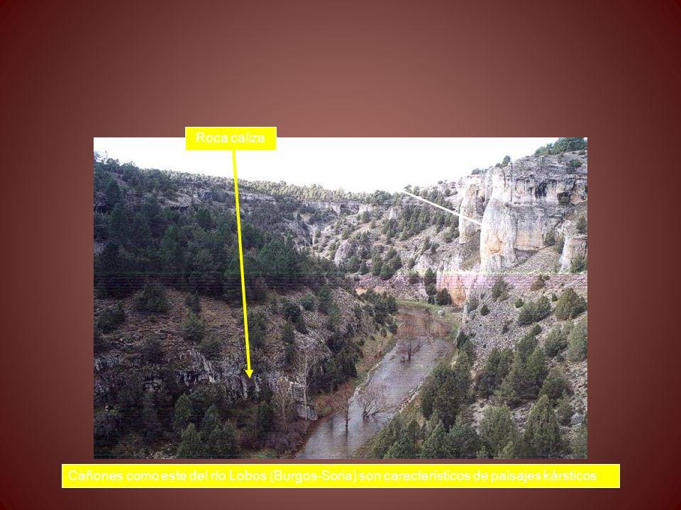 Cañones como este del río Lobos (Burgos-Soria) son característicos de paisajes kársticos Roca caliza
