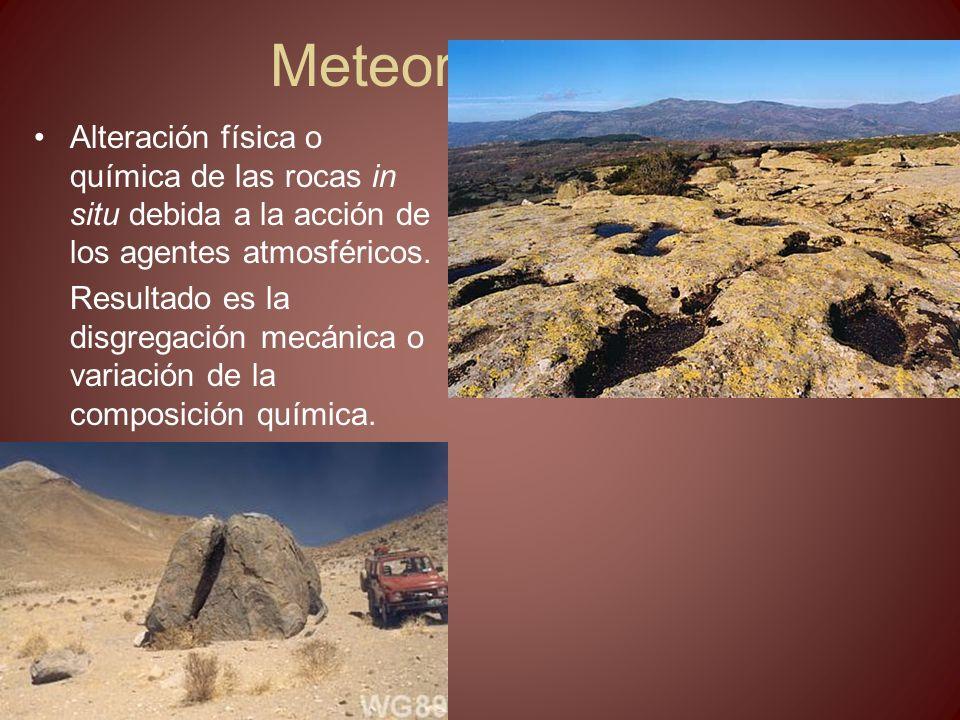 Meteorización y erosión