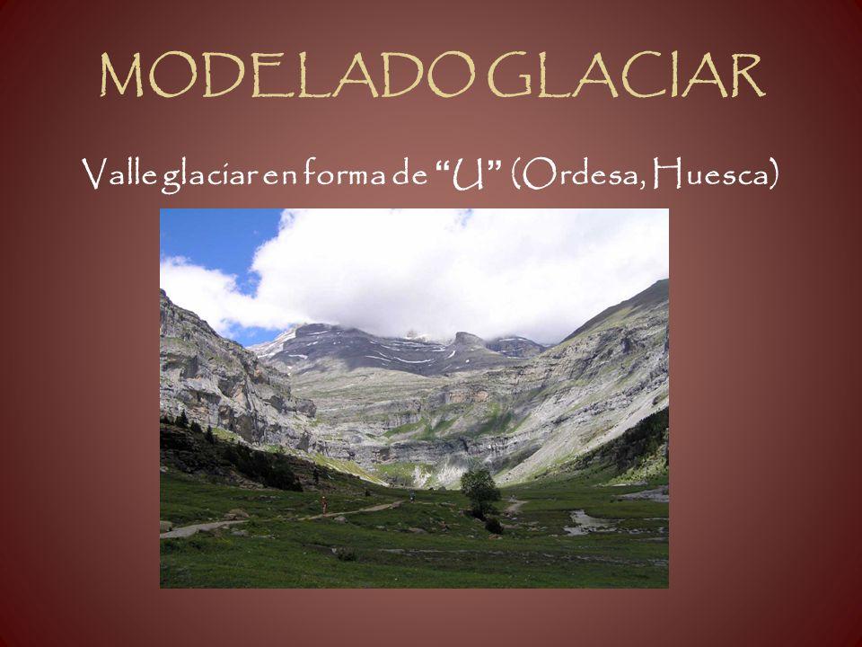 MODELADO GLACIAR Valle glaciar en forma de U (Ordesa, Huesca)