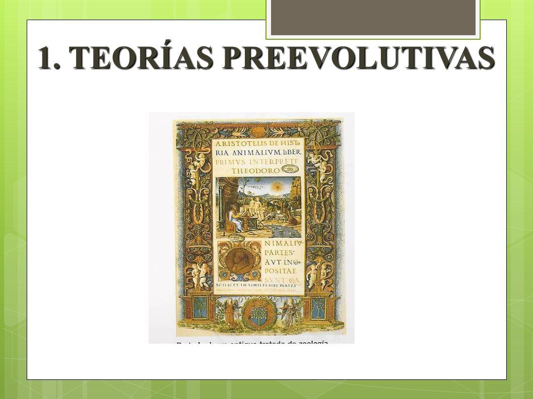 Portada de un Antiguo Tratado de Zoología. 1. TEORÍAS PREEVOLUTIVAS 1. TEORÍAS PREEVOLUTIVAS