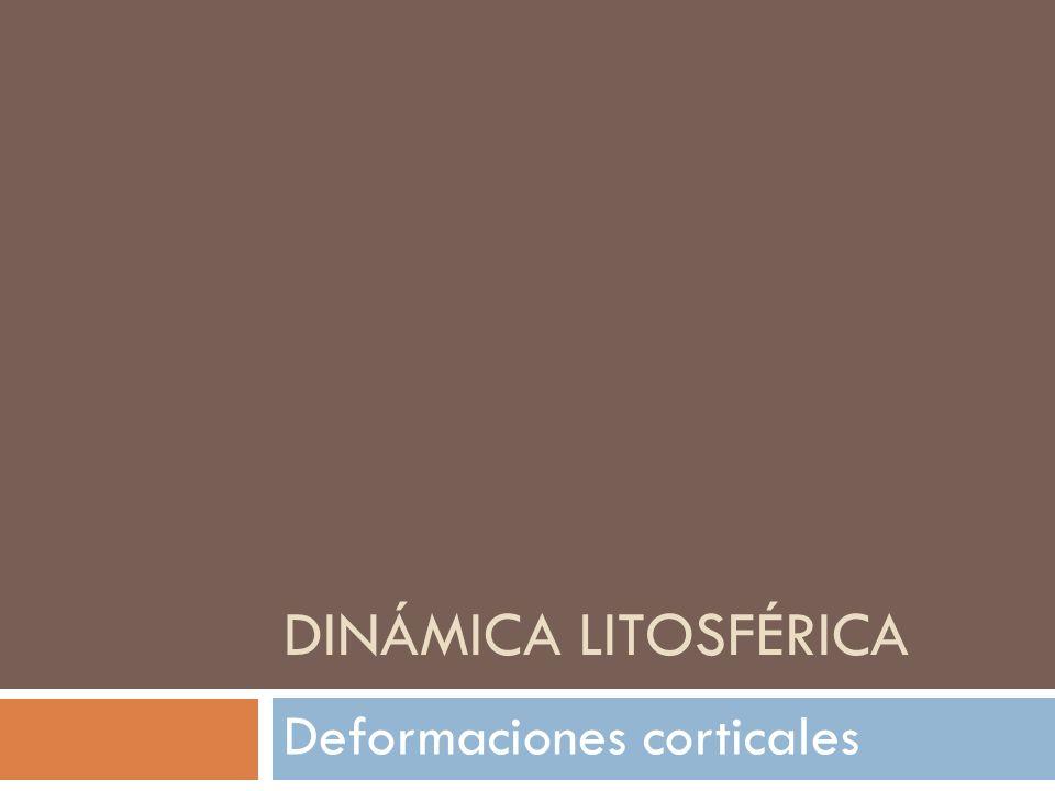 DINÁMICA LITOSFÉRICA Deformaciones corticales