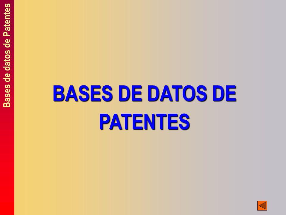 BASES DE DATOS DE PATENTES Bases de datos de Patentes