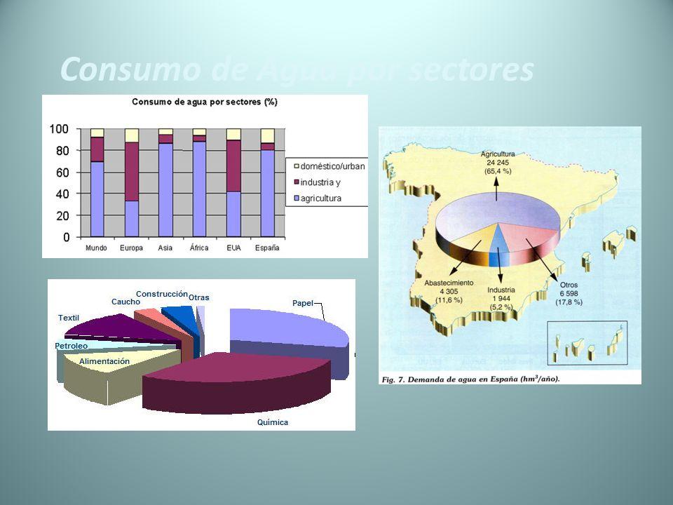 Consumo de Agua por sectores