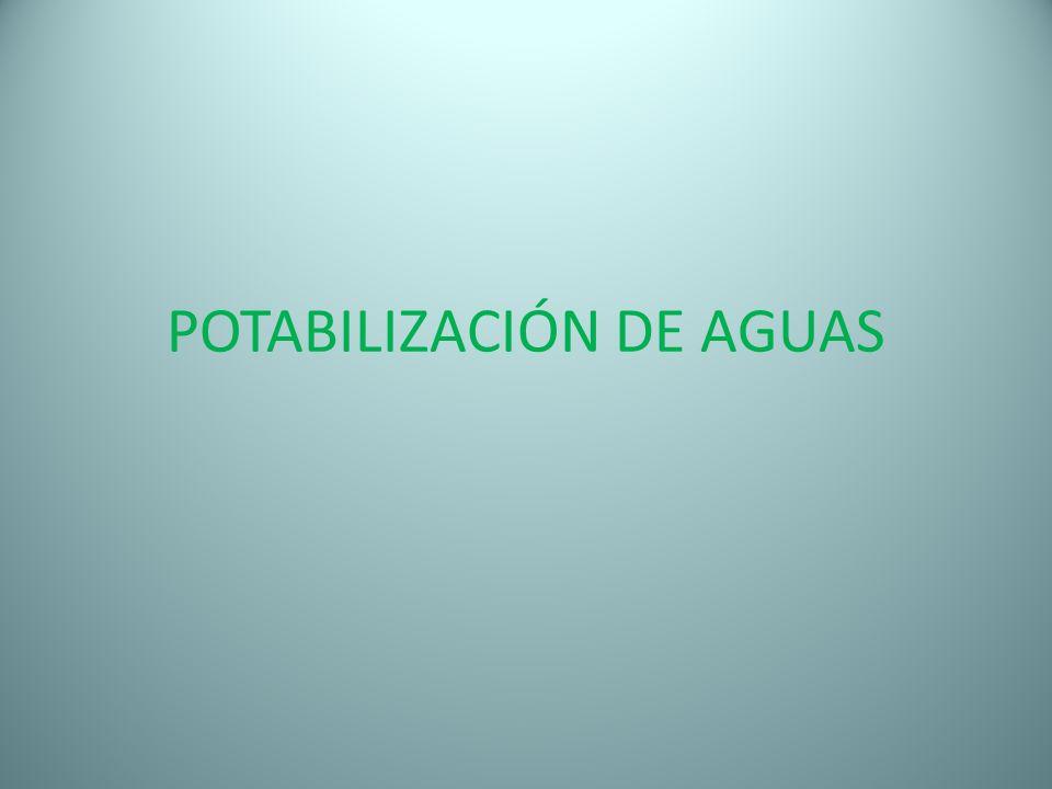 POTABILIZACIÓN DE AGUAS