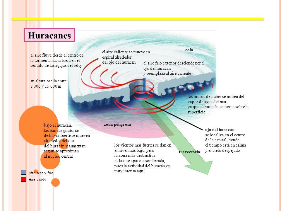 Los ciclones tropicales (también conocidos como tormentas tropicales, huracanes y tifones) son ciclones que se forman generalmente en océanos caliente