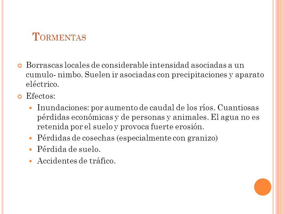 2.3. P RECIPITACIONES Tormentas Rayos Gota fría Inundaciones