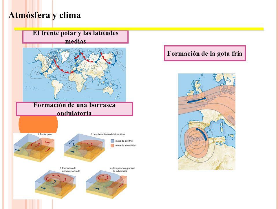 GOTA FRÍA Caso especial de tormenta. Se da en costas mediterráneas, fundamentalmente. Embolsamiento de aire frío en las capas atmosféricas superiores