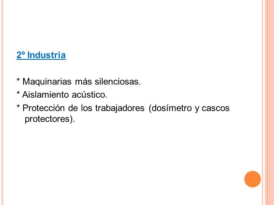 2º Industria * Maquinarias más silenciosas.* Aislamiento acústico.